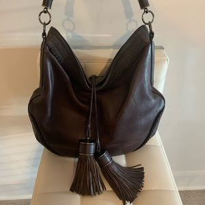 Beautiful leather Burberry tassel bag